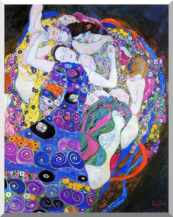 Gustav Klimt Huge A0 84x118.8cm QUALITY Canvas Print Unframed The Virgin