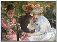 Marie Bracquemond On The Terrace At Sevres stretched canvas art