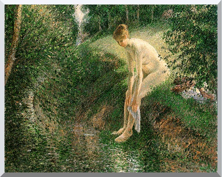 Camille Pissarro Bather in the Woods stretched canvas art print