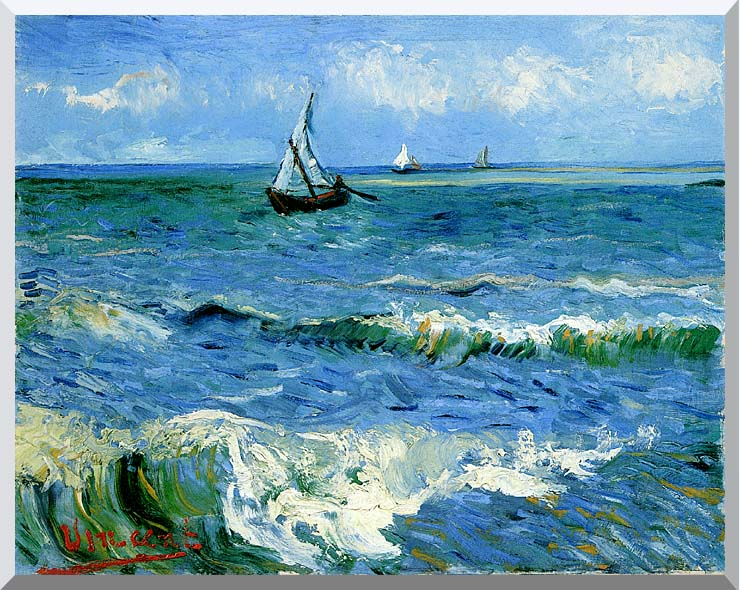 Vincent van Gogh The Sea at Les Saintes Maries de la Mer stretched canvas art print