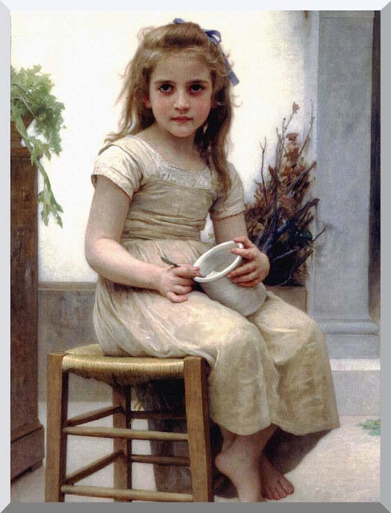 William Bouguereau Just a Taste stretched canvas art print