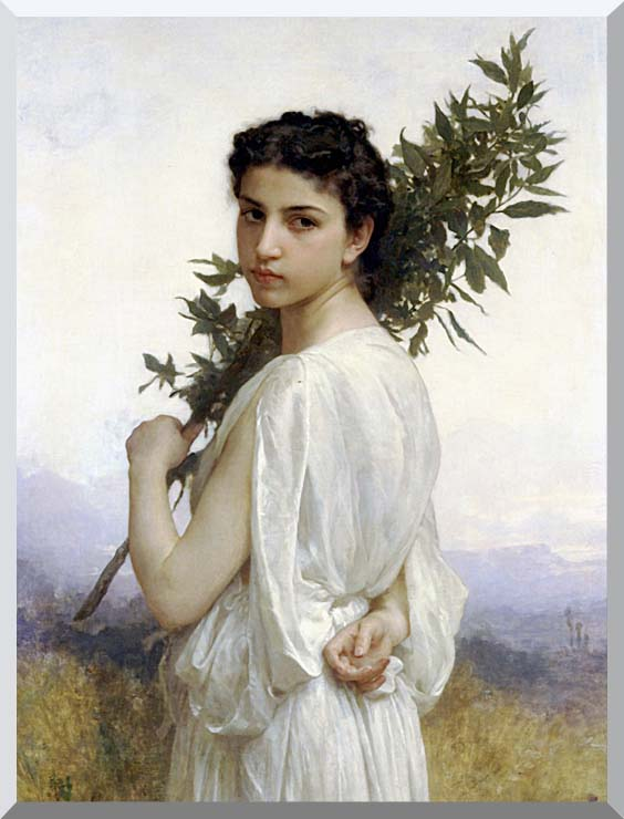 William Bouguereau Laurel Branch stretched canvas art print