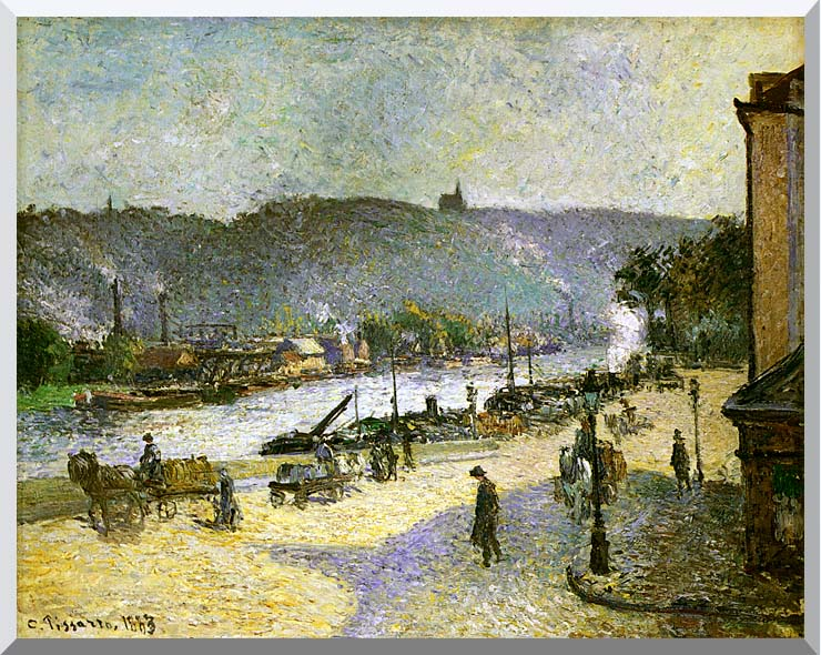 Camille Pissarro The Quays at Rouen stretched canvas art print
