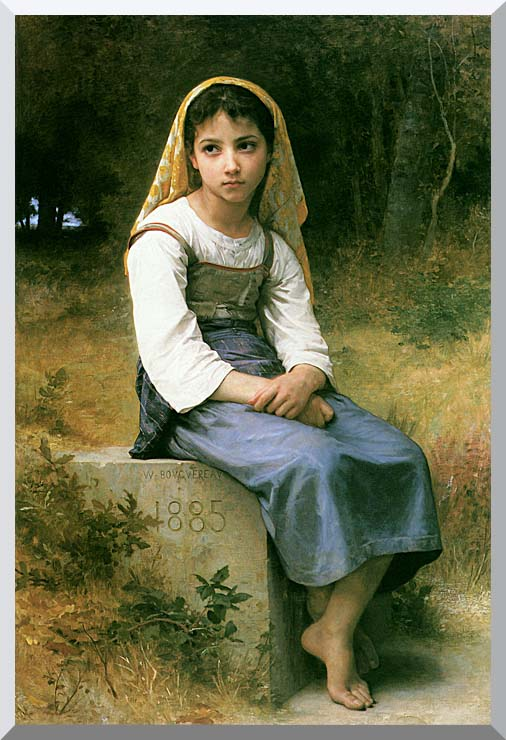 William Bouguereau Meditation stretched canvas art print