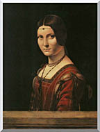 Leonardo Da Vinci Lady In The Court Of Milan stretched canvas art