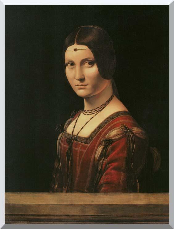 Leonardo Da Vinci Lady in the Court of Milan stretched canvas art print
