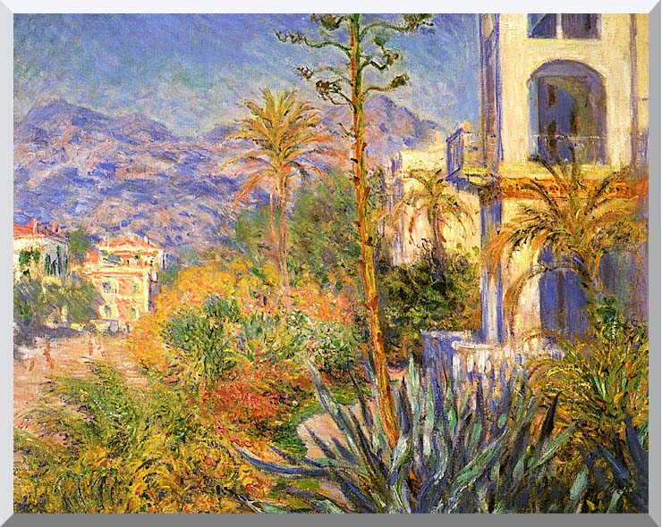 Claude Monet Villas at Bordighera stretched canvas art print