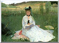 Berthe Morisot Reading Detail stretched canvas art