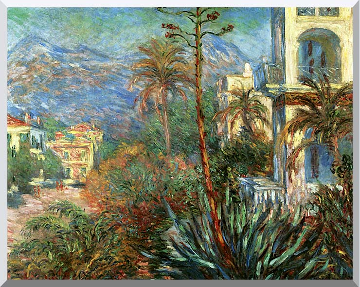 Claude Monet The Villas at Bordighera stretched canvas art print