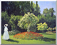 Claude Monet Jeanne Marguerite Lecadre In The Garden stretched canvas art