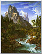 Joseph Anton Koch The Wetterhorn With The Reichenbachtal stretched canvas art