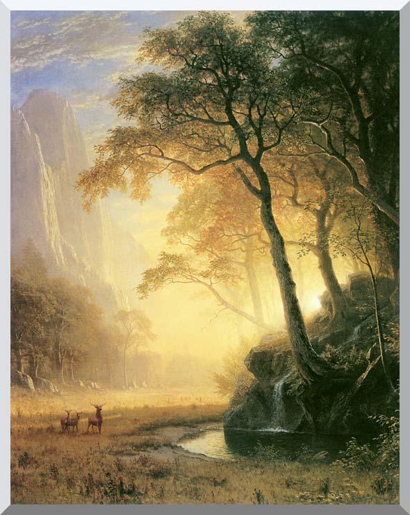 Albert Bierstadt Hetch Hetchy Canyon stretched canvas art print