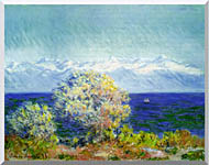 Claude Monet At Cap Dantibes Mistral Wind stretched canvas art
