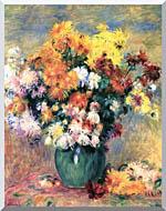 Pierre Auguste Renoir Chrysanthemums In A Vase stretched canvas art