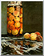 Claude Monet Jar Of Peaches stretched canvas art