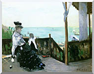 Berthe Morisot In A Villa At The Seaside stretched canvas art