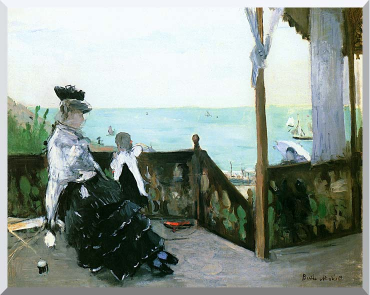 Berthe Morisot In a Villa at the Seaside stretched canvas art print