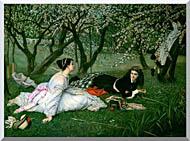 James Tissot Le Printemps stretched canvas art