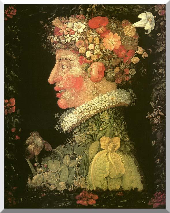 Giuseppe Arcimboldo Spring stretched canvas art print