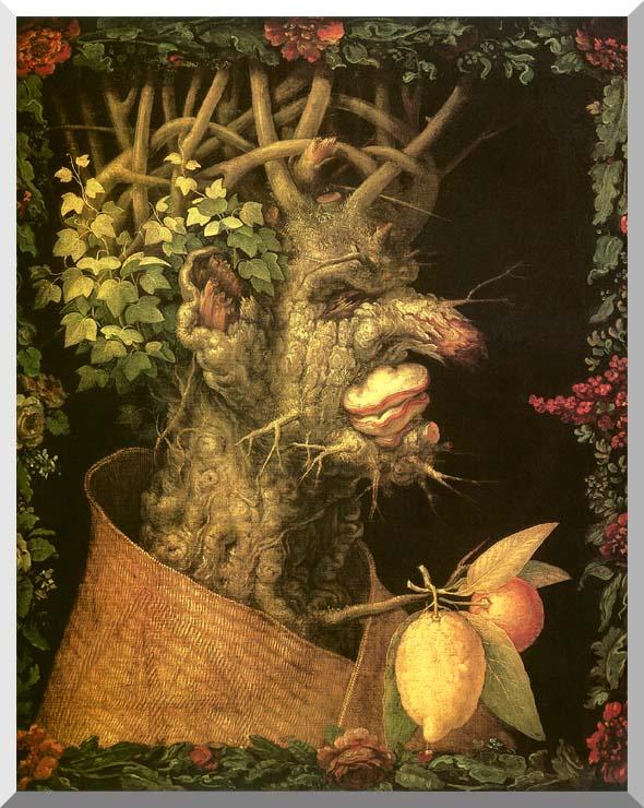 Giuseppe Arcimboldo Winter stretched canvas art print