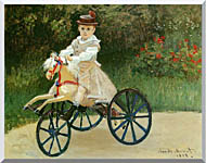 Claude Monet Jean Monet On His Horse Tricycle stretched canvas art