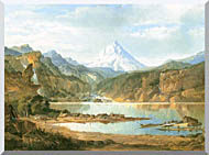 John Mix Stanley Mountain Landscape With Indians stretched canvas art