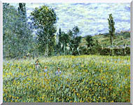 Claude Monet A Meadow Outside Vetheuil stretched canvas art