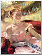 Mary Cassatt Lydia In A Loge Wearing A Pearl Necklace stretched canvas art