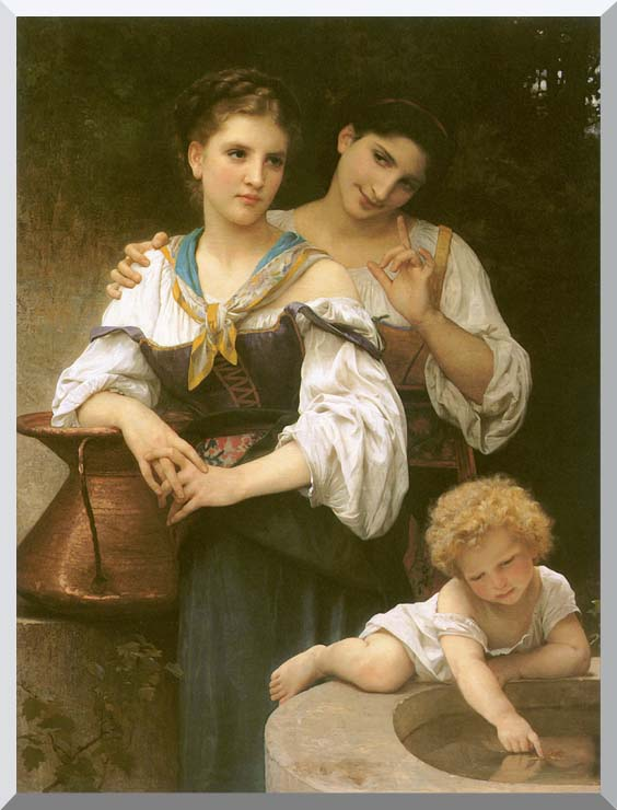 William Bouguereau The Secret stretched canvas art print