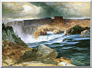 Thomas Moran Shoshone Falls Snake River Idaho stretched canvas art