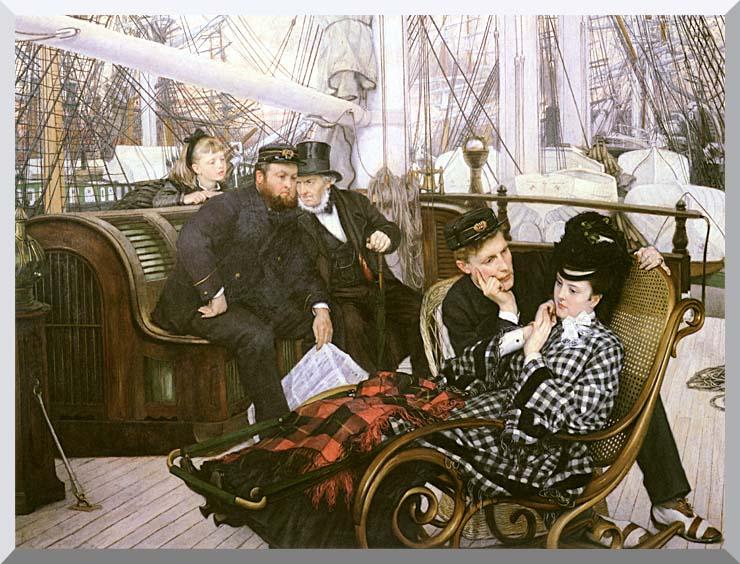 James Tissot The Last Evening stretched canvas art print