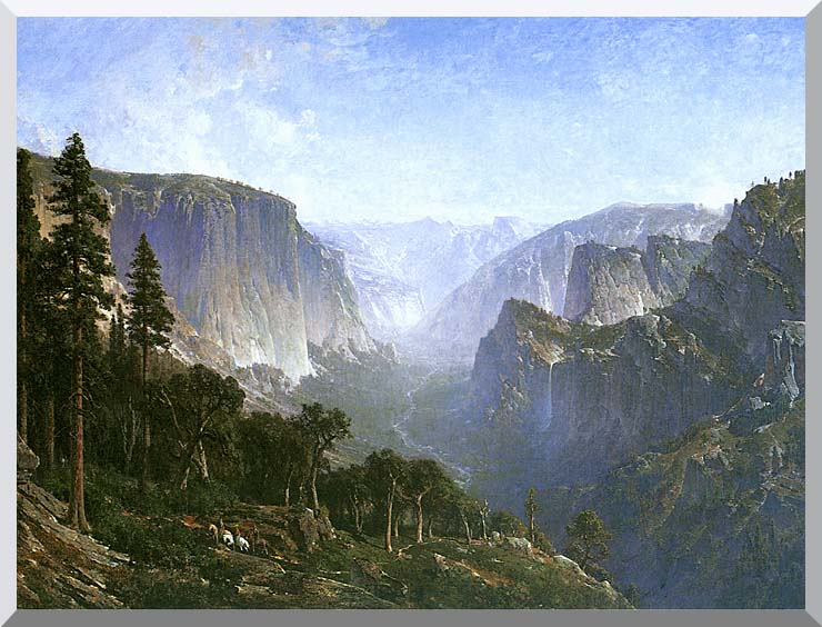 Thomas Hill Yosemite Valley stretched canvas art print