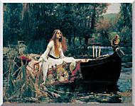 John William Waterhouse The Lady Of Shalott stretched canvas art