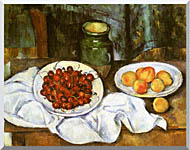 Paul Cezanne Still Life With Cherries And Peaches stretched canvas art