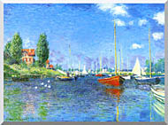 Claude Monet Red Boats Argenteuil 1875 stretched canvas art
