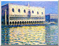 Claude Monet Palazzo Ducale stretched canvas art