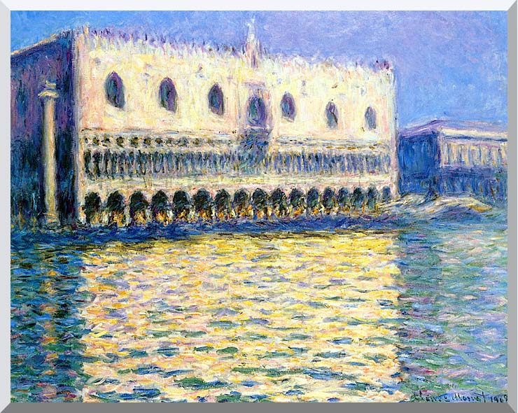Claude Monet Palazzo Ducale stretched canvas art print