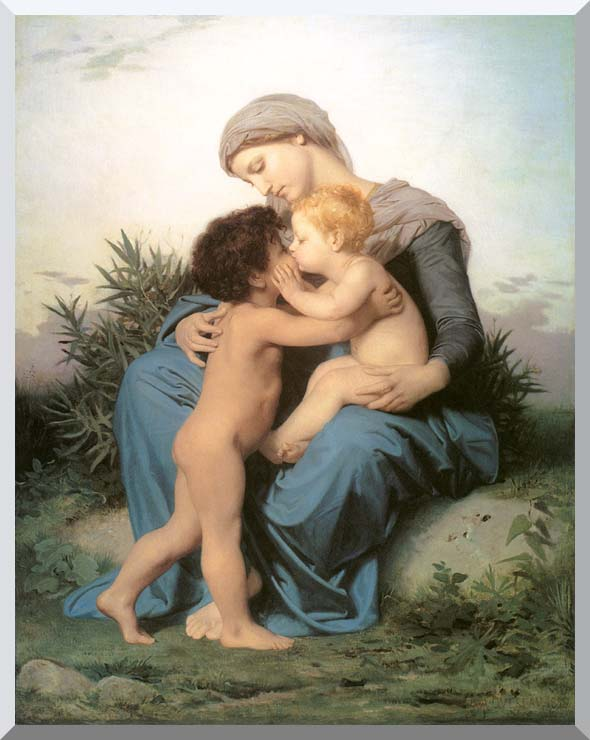 William Bouguereau Fraternal Love stretched canvas art print