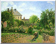 Camille Pissarro The Artists Garden At Eragny 1898 stretched canvas art
