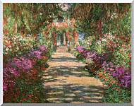 Claude Monet Main Path Through The Garden At Giverny Detail stretched canvas art