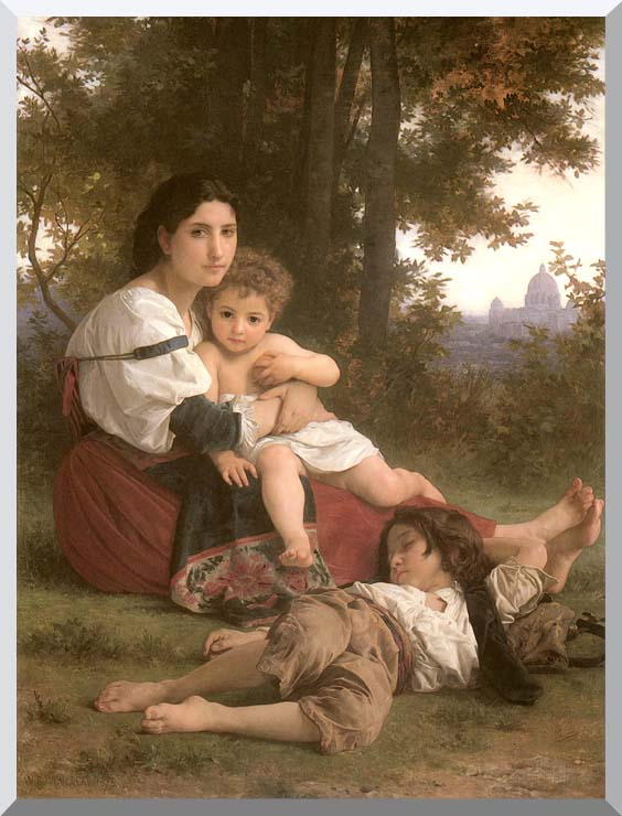 William Bouguereau Rest stretched canvas art print