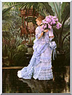 James Tissot The Bunch Of Lilacs stretched canvas art