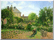 Camille Pissarro The Artists Garden At Eragny stretched canvas art