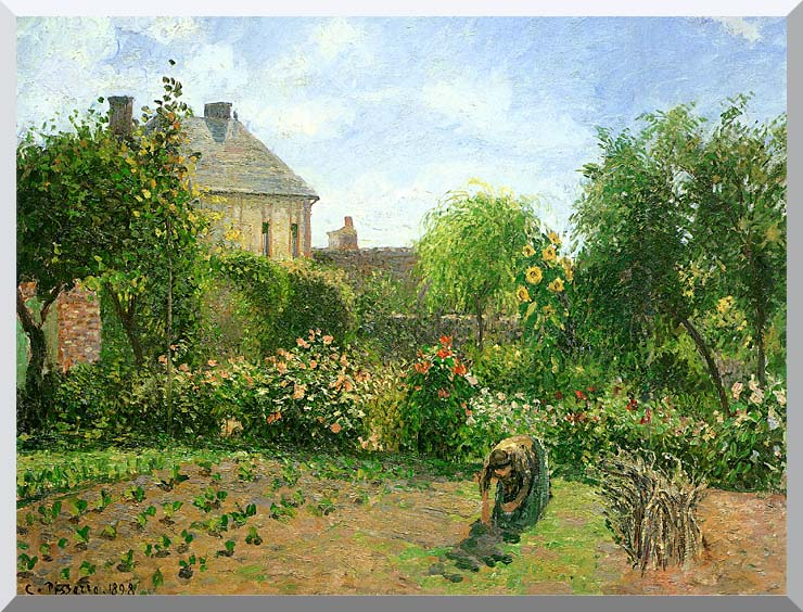 Camille Pissarro The Artist's Garden at Eragny stretched canvas art print