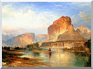 Thomas Moran Cliffs Of Green River stretched canvas art