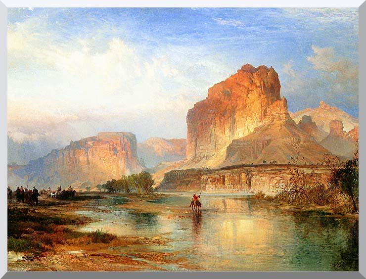 Thomas Moran Cliffs of Green River stretched canvas art print