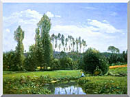 Claude Monet View From Rouelles Monets First Painting stretched canvas art