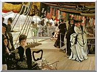 James Tissot The Ball On Shipboard stretched canvas art