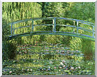 Claude Monet Water Lily Pond Harmony In Green stretched canvas art