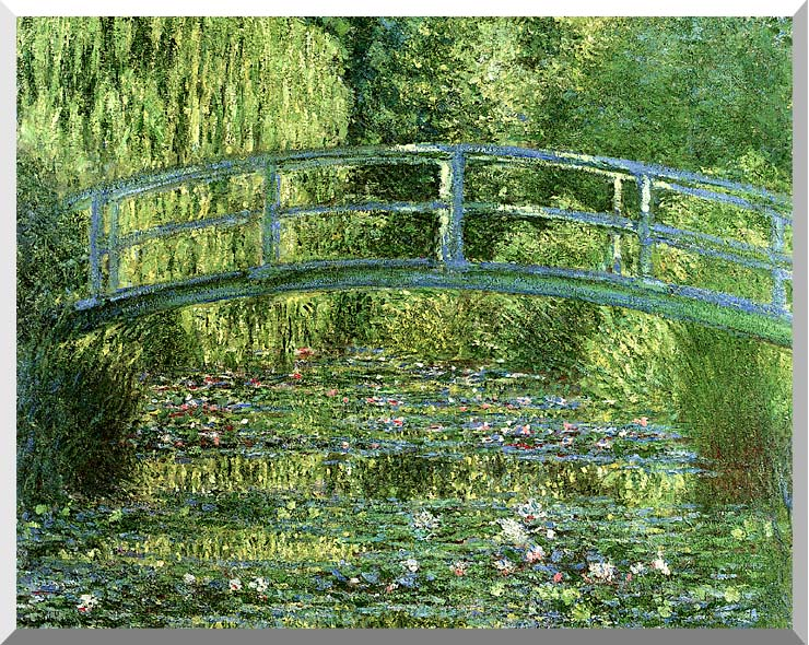Claude Monet Water-Lily Pond, Harmony in Green stretched canvas art print
